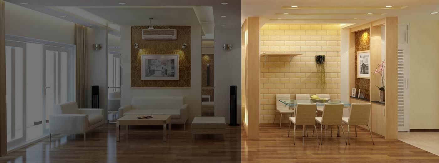 Bản vẽ 3D thiết kế phòng ăn