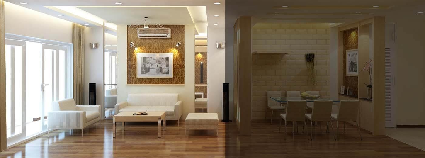 3D Thiết kế nội thất phòng khách