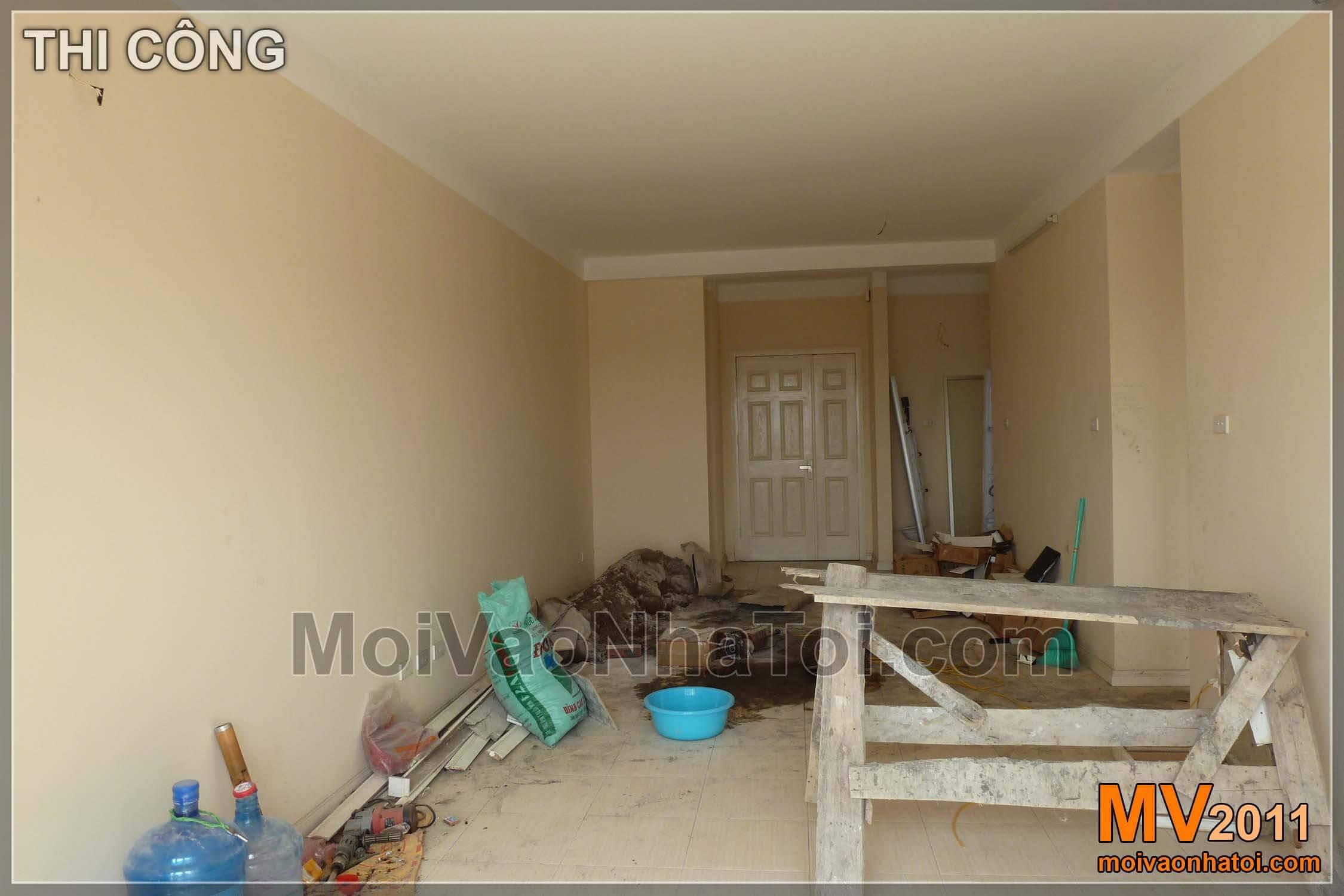 Hiện trạng căn chung cư chưa cải tạo