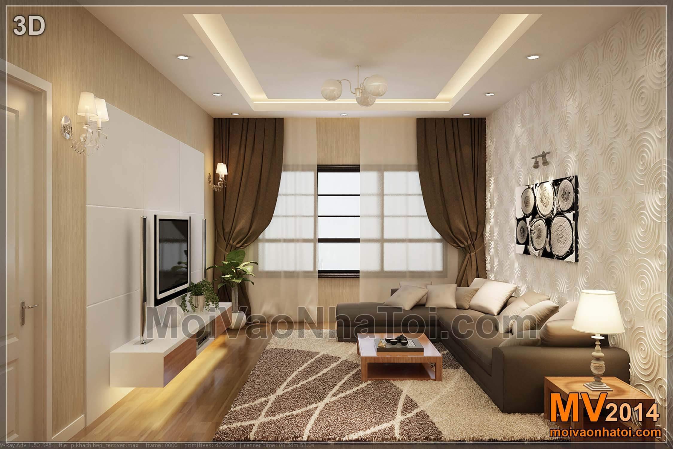 Thiết kế 3D phòng khách Mulberry Lane