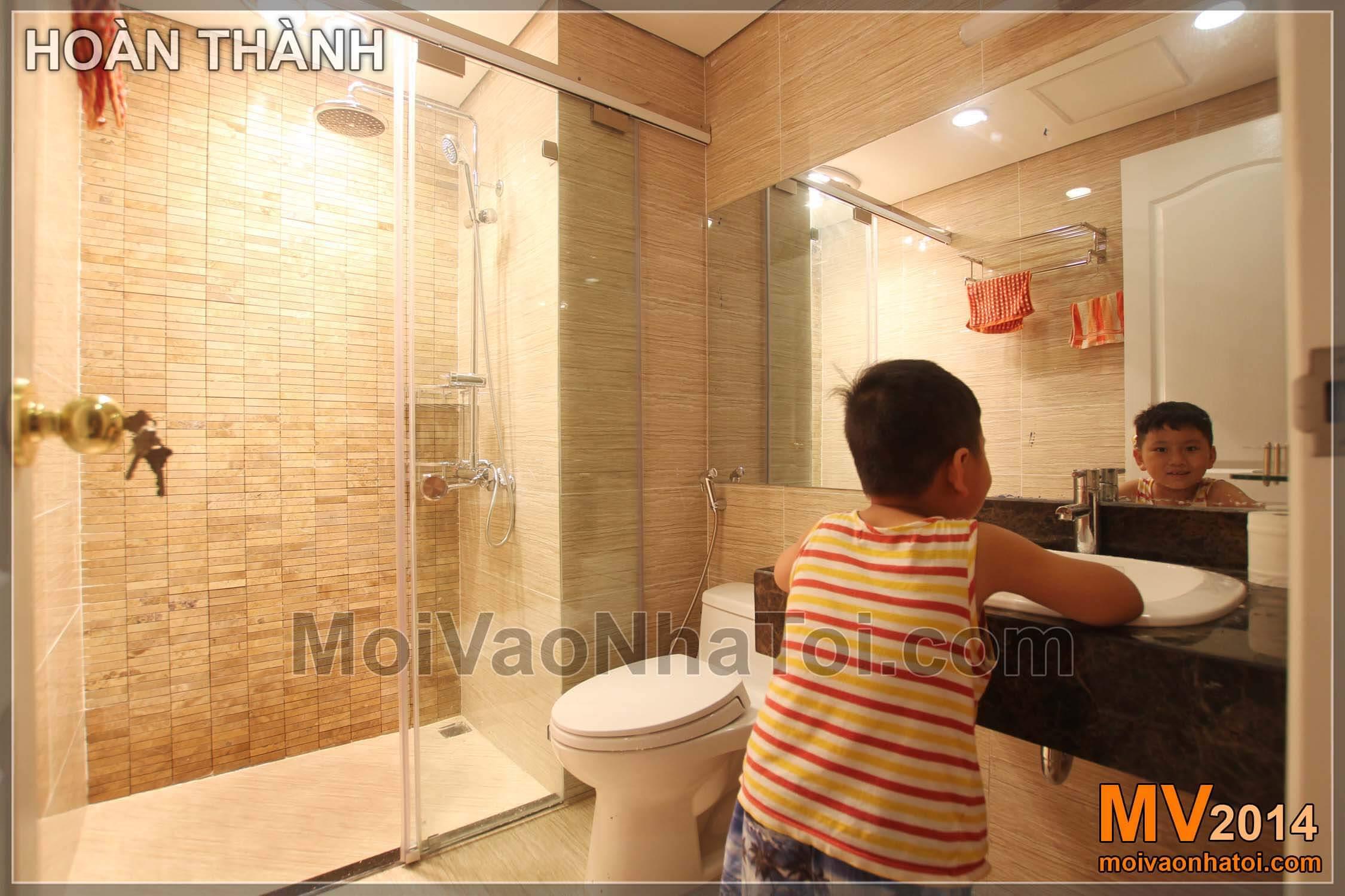 Nội thất phòng tắm vệ sinh sau khi hoàn thành