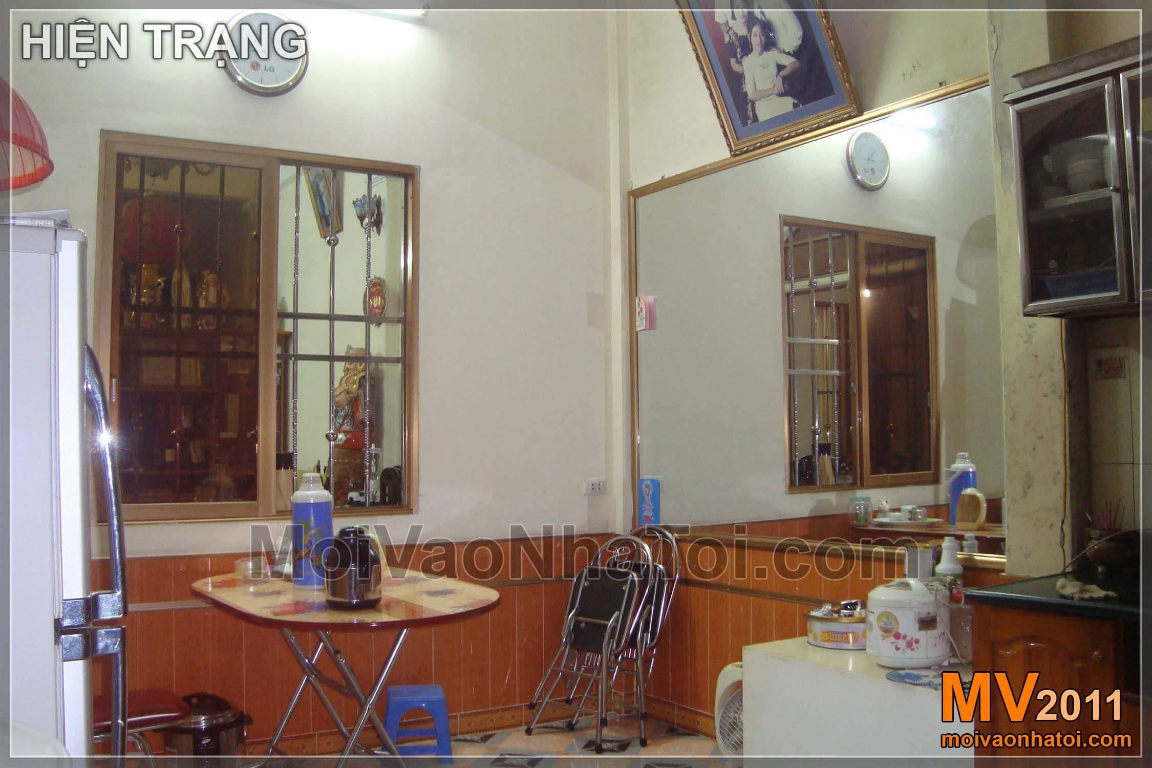 Góc nhìn từ bếp sang phòng khách