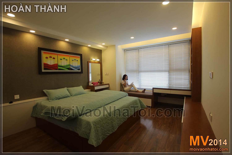 Chung cư Star City Phòng ngủ master sau khi thi công hoàn thành