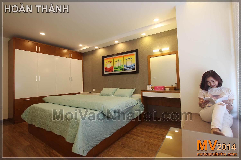 Chung cư Star City Nội thất phòng ngủ hoàn thiện