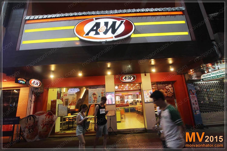 Thiết kế cửa hàng đồ ăn nhanh A&W