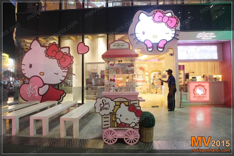 Vẻ đẹp cuốn hút bên ngoài nhà hàng Hello Kitty