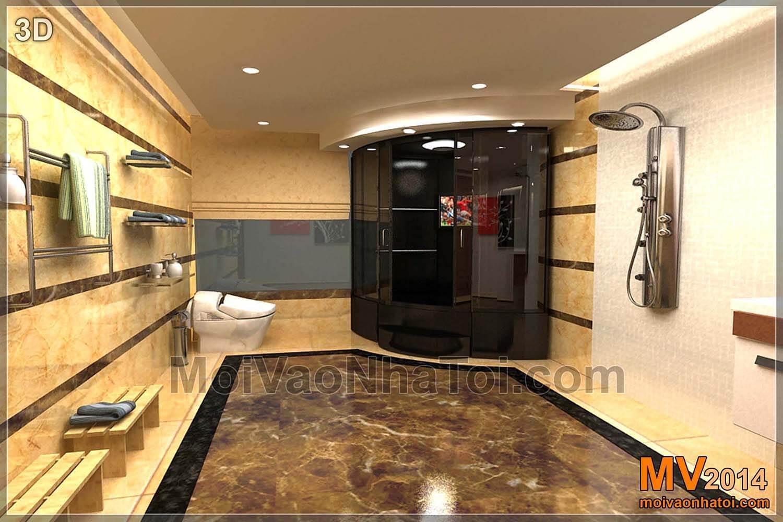 Bản 3D thiết kế phòng wc 10m2