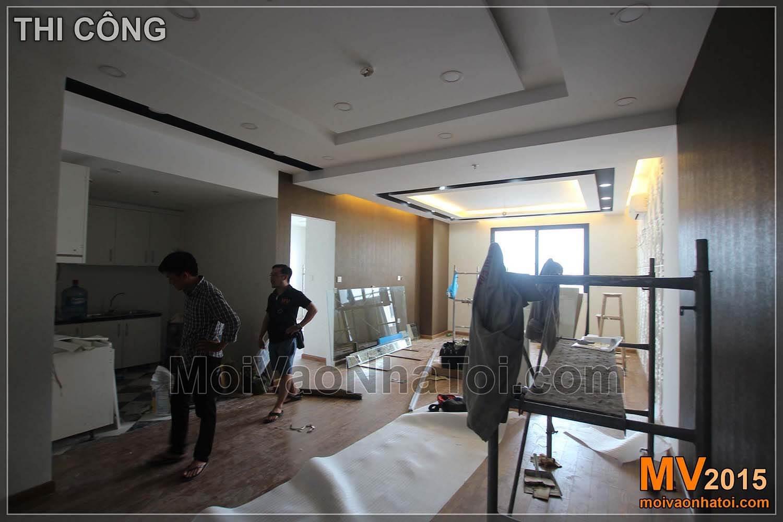 Phá tường ngăn để tạo phòng khách rộng và thoáng hơn