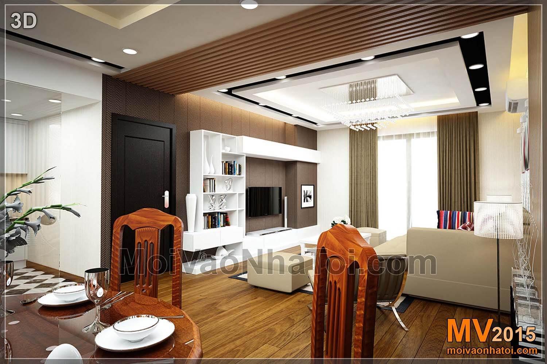 Bản vẽ thiết kế 3D phòng khách
