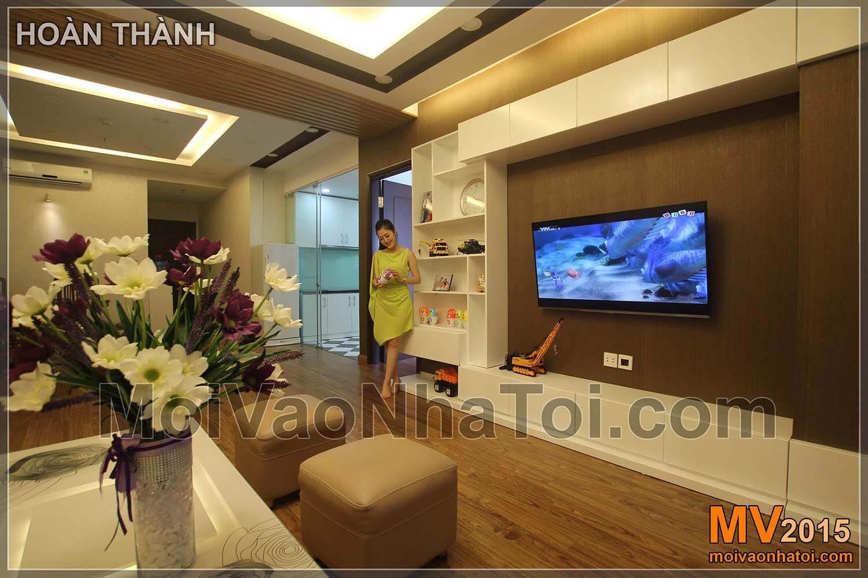 Chung cư Times City T8 Phòng khách sau khi hoàn thành