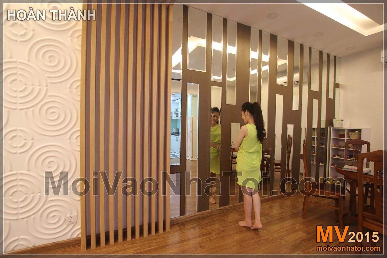 Chung cư Times City T8 Mảng tường gương trang trí