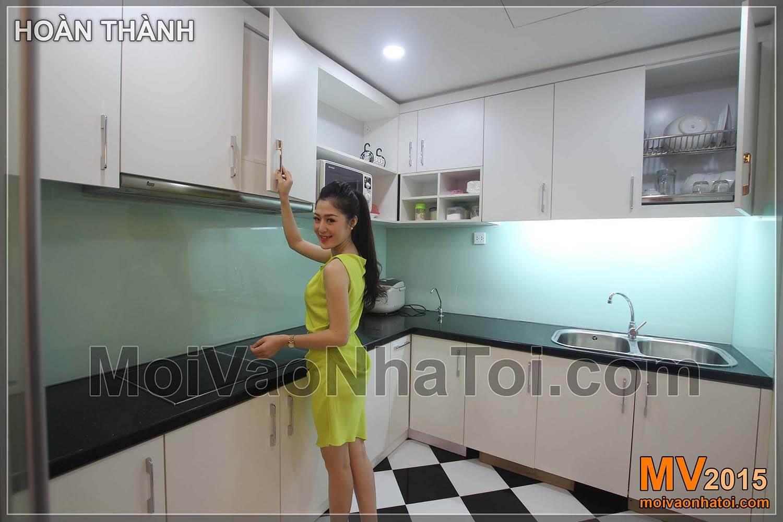 Chung cư Times City T8 Tủ bếp sau khi hoàn thiện