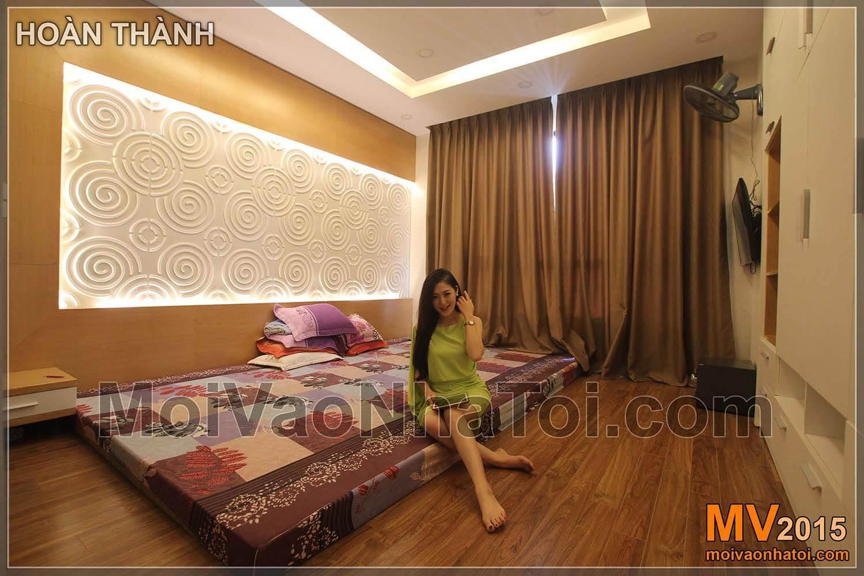 Chung cư Times City T8 Phòng ngủ sau khi hoàn thành
