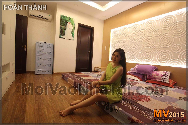Chung cư Times City T8 Nội thất phòng ngủ master hoàn thành