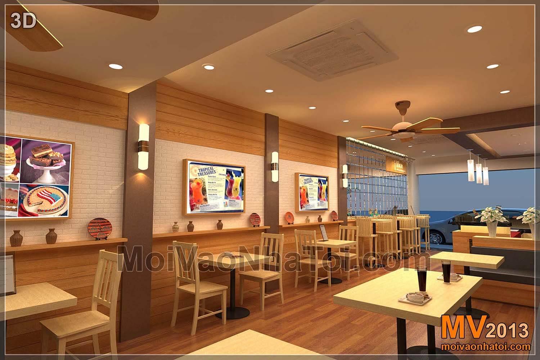 Bản vẽ 3D và Quá trình thi công nội thất nhà hàng