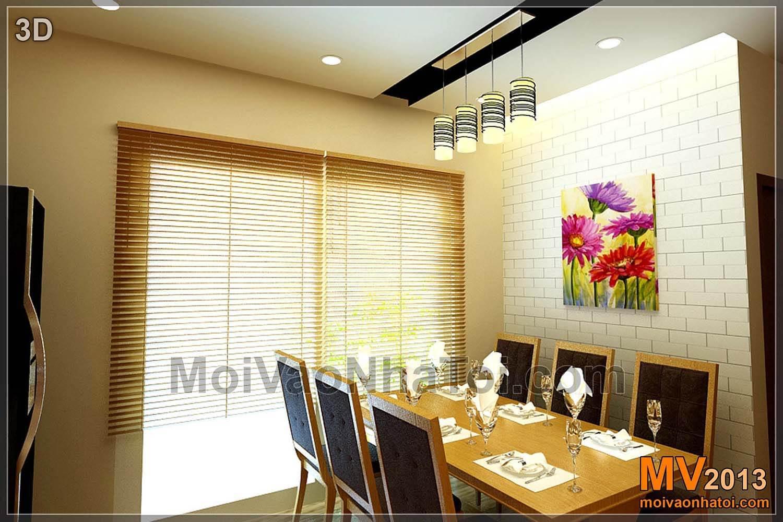 Thiết kế nội thất khu vực bàn ăn thiết kế 3D