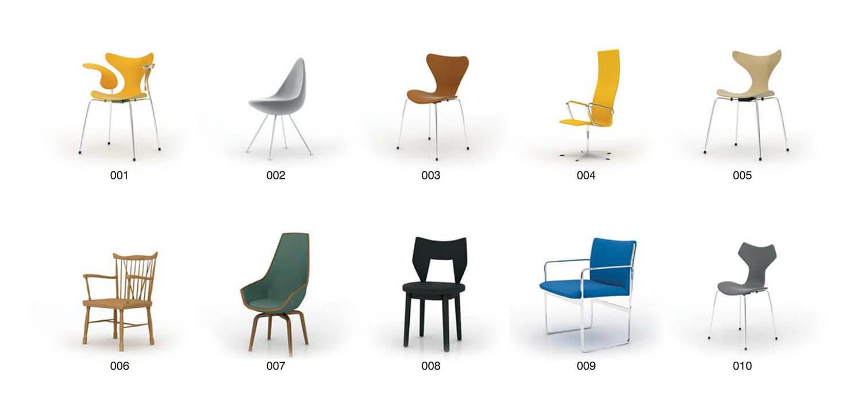 Bộ ghế đơn kiểu dáng hiện đại bằng chất liệu nhựa tổng hợp và Inox 304