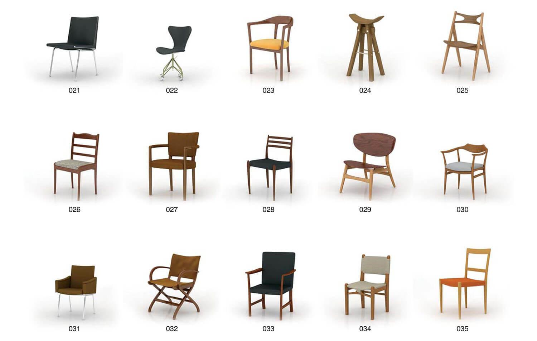 một số mẫu ghế cổ điển, thông dụng