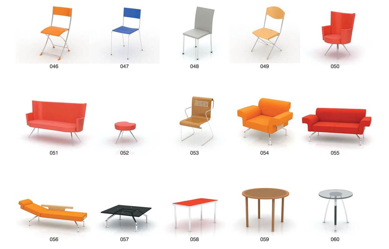Bàn và ghế kiểu dáng hiện đại, mang tính chất giải trí