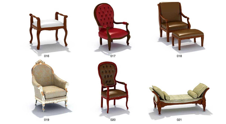 Các loại ghế kích thước lớn, trạm trổ điêu khắc công phu hơn, tạo sự bề thế