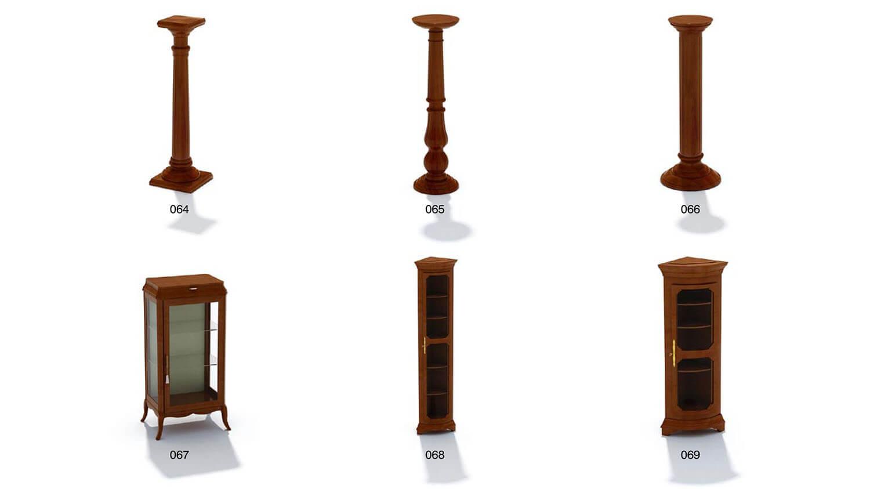 cột trang trí, tủ kính trang trí, tủ góc cổ điển