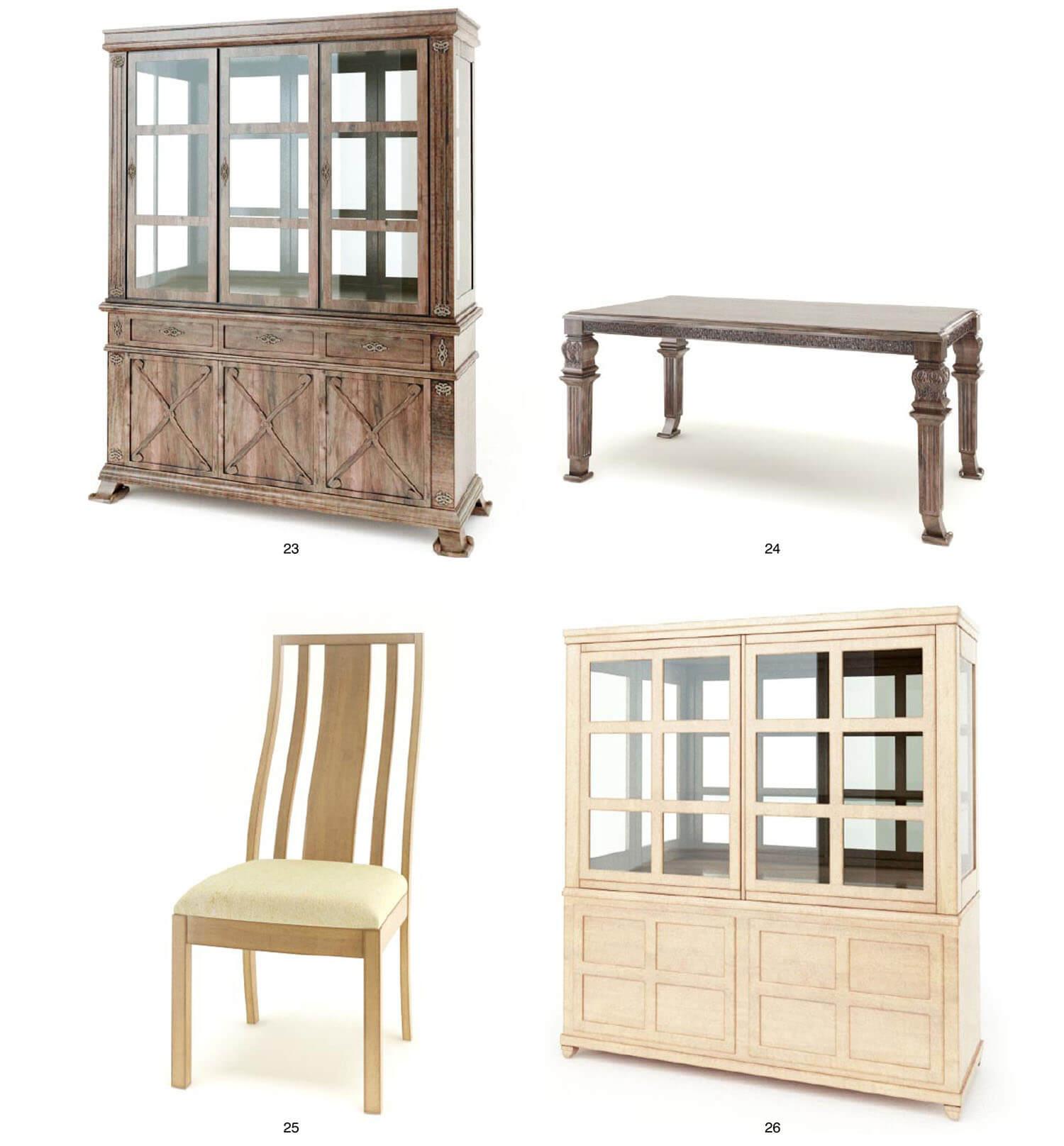 Bàn và tủ cổ điển khi đặt cạnh bàn và tủ hiện đại