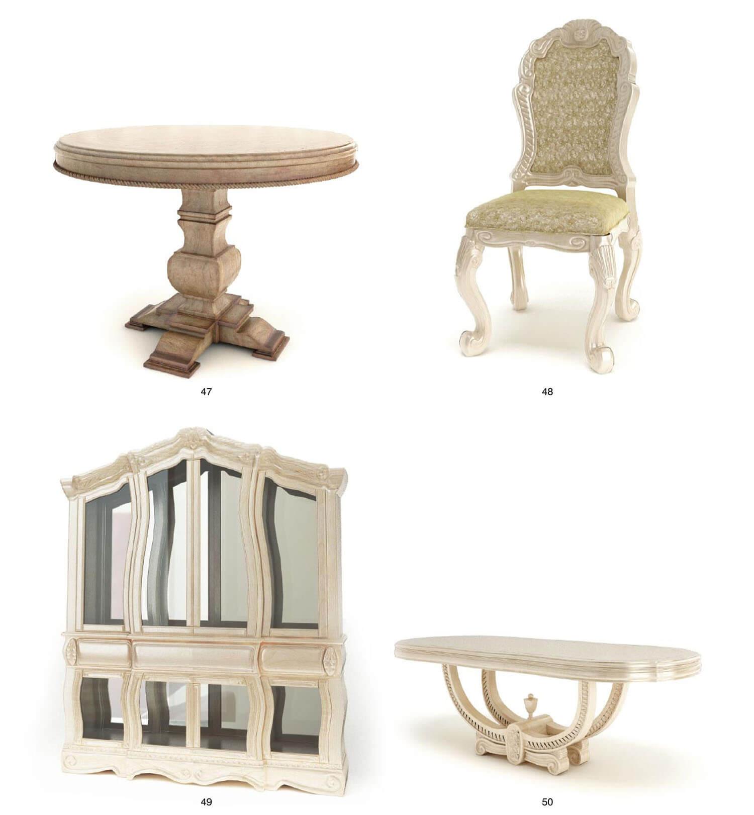 bàn của ghế như những tác phẩm nghệ thuật