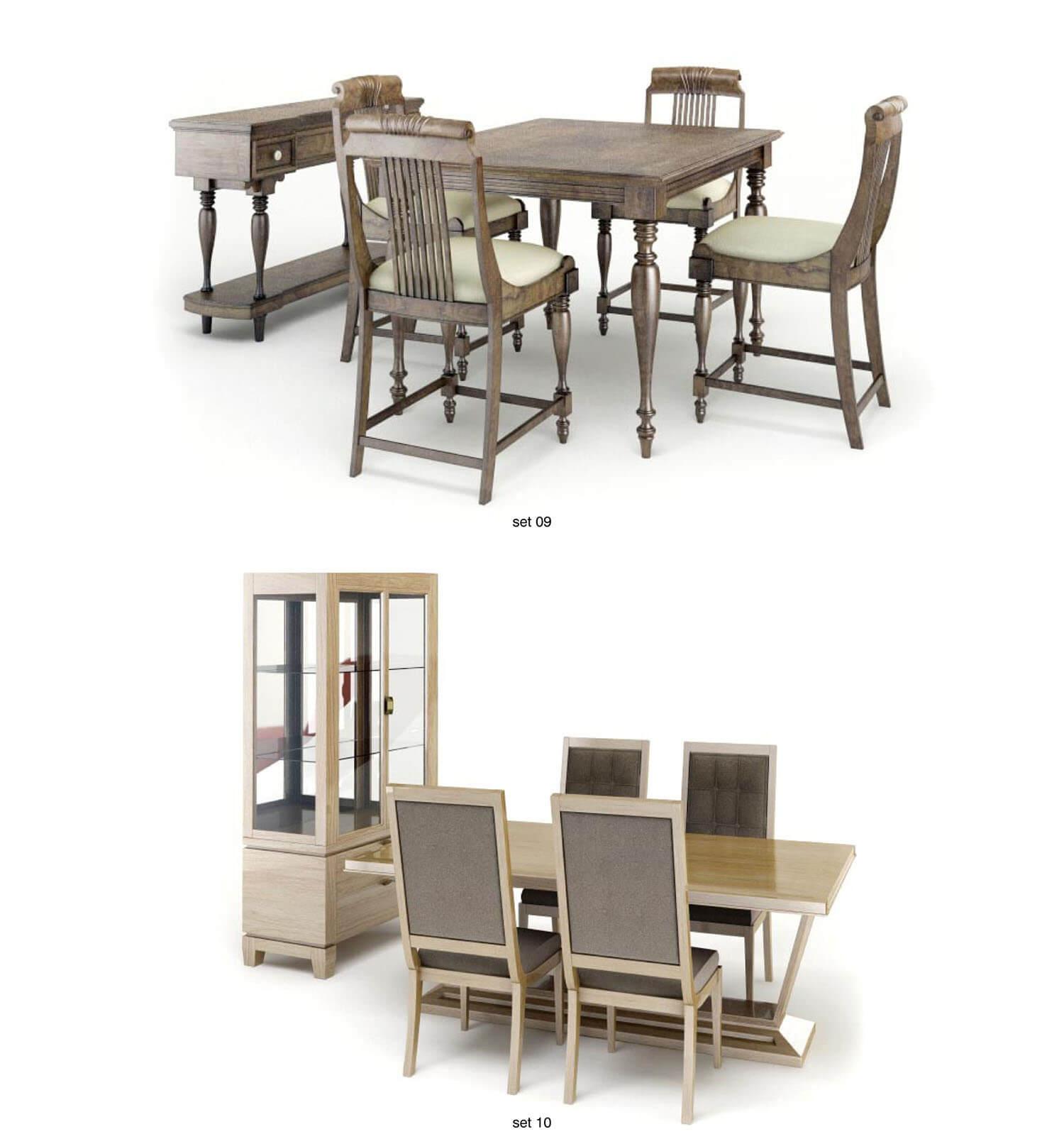 So sánh giữa 2 bộ bàn ăn cổ điển và hiện đại này, bạn sẽ chọn bộ nào