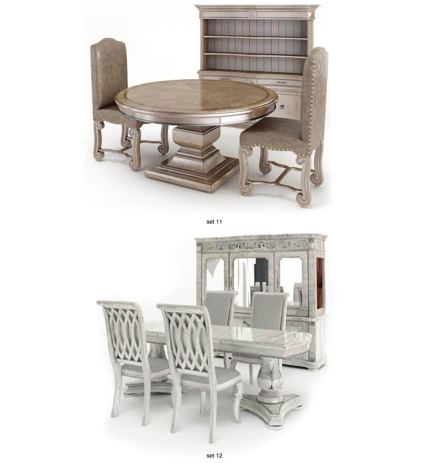 bàn ăn kết cấu bề thế, hoành tráng như cung điện vua chúa