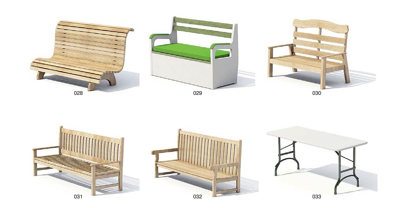 Ghế gỗ ngồi ngoài trời, trang trí công viên