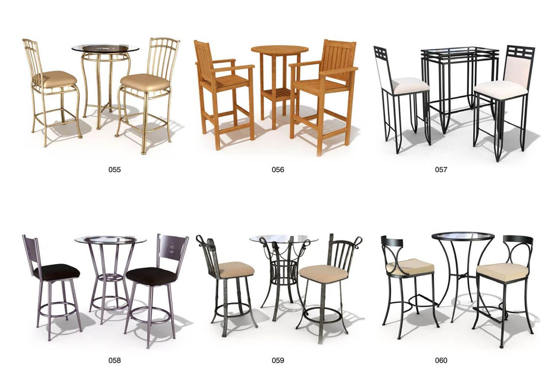 ghế sắt gỗ chân cao, phù hợp cho quán rượu, quầy bar