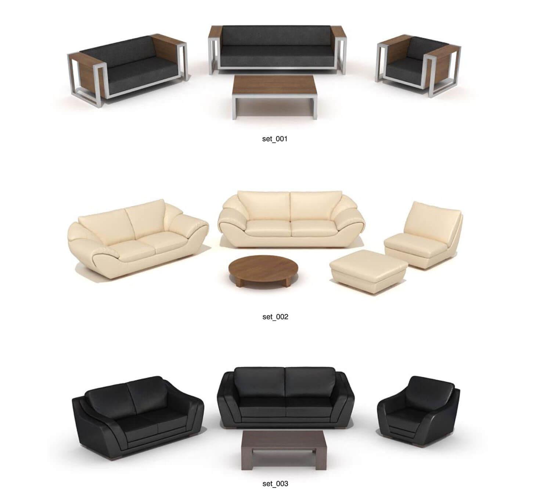Mẫu bàn ghế sofa hiện đại, với các đường nét nổi bật bằng inox