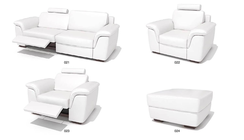 Bộ sofa da với ghế có thể ngả ra phía sau, một kết cấu thông minh và độc đáo