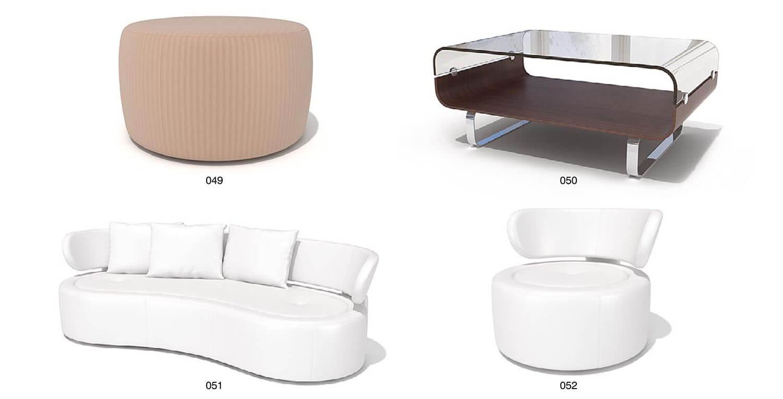 Sofa bọc da hiện đại màu trắng