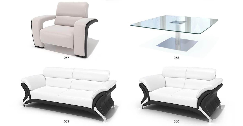 Và cả các bộ sofa có màu sắc da pha trộn trắng, đen, nâu sinh động