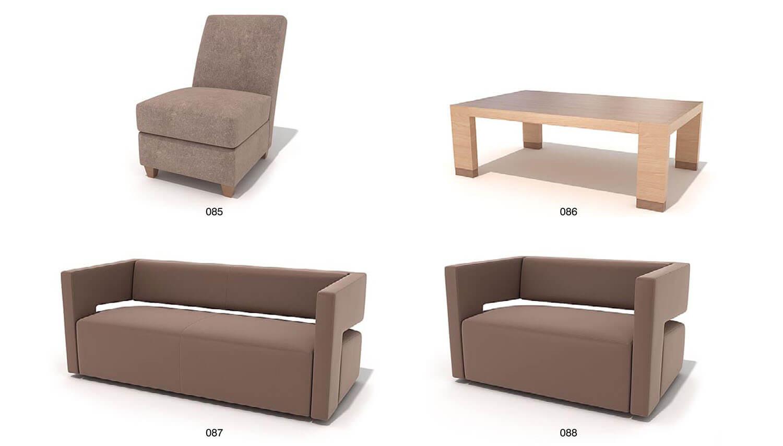 Sofa hiện đại vuông vức