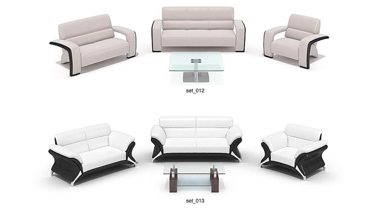 Mẫu sofa hiện đại chất liệu da, với kết cấu lạ mắt