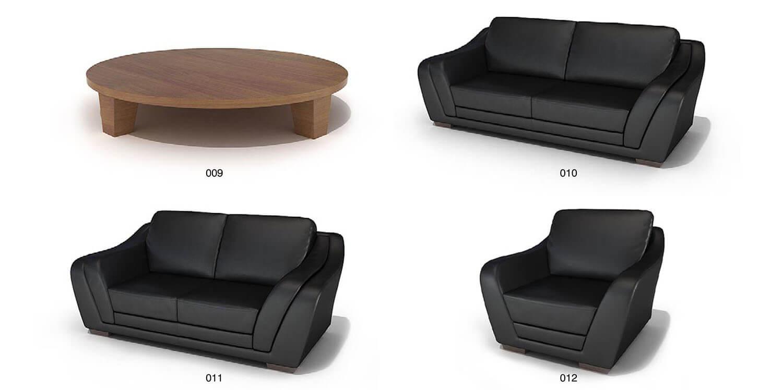 Bộ sofa màu đen đơn giản, song rất dễ hợp với các không gian nội thất