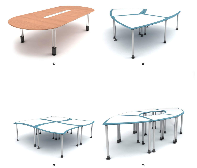 một số mẫu bàn làm việc kiểu dáng độc đáo, có thể ghép nhiều kiểu khác nhau