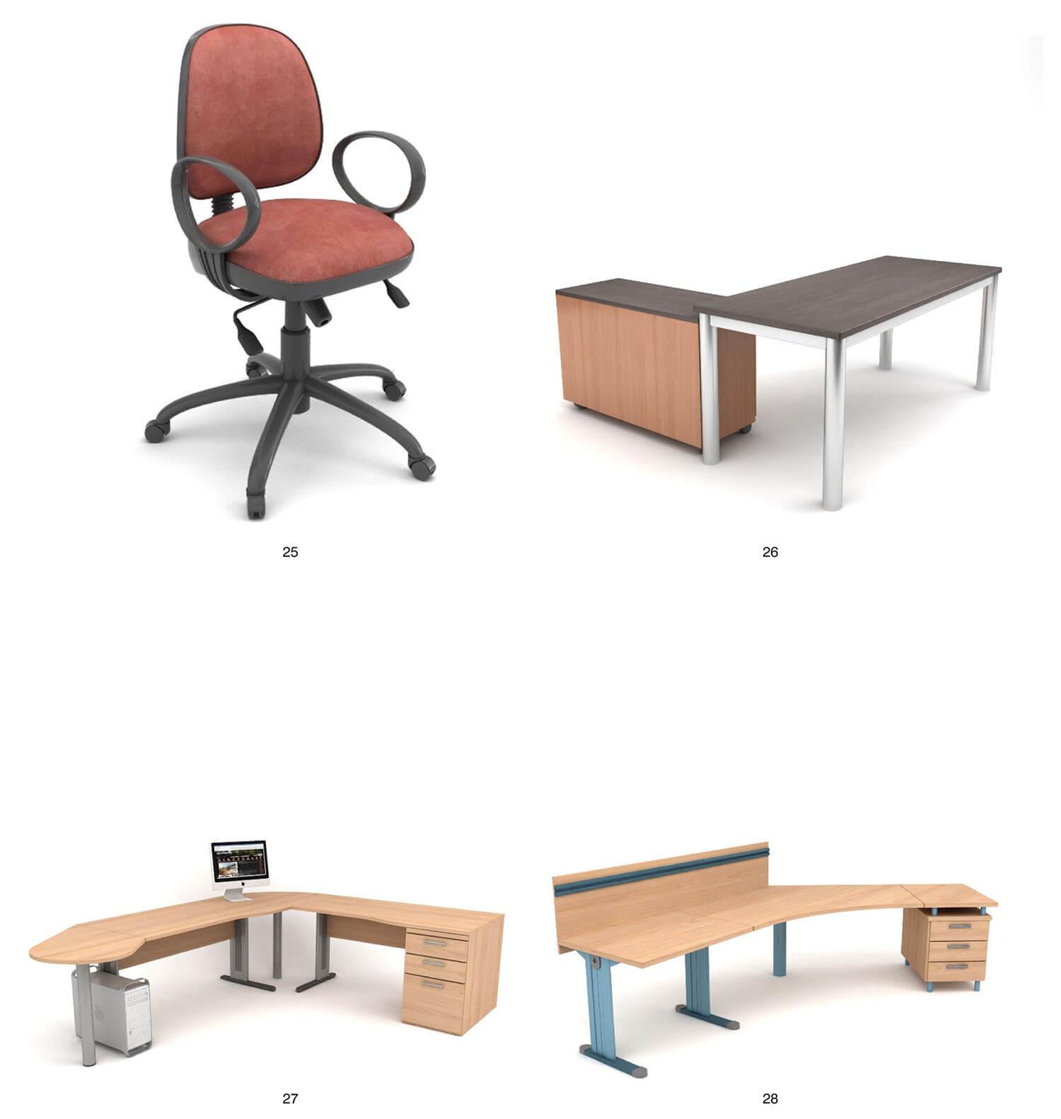 Một số mẫu bàn làm việc góc cho nhân viên với màu gỗ sáng trẻ trung hiện đại