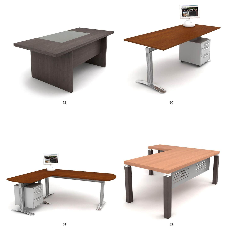 Các mẫu bàn đơn sang trọng hơn cho trưởng phòng