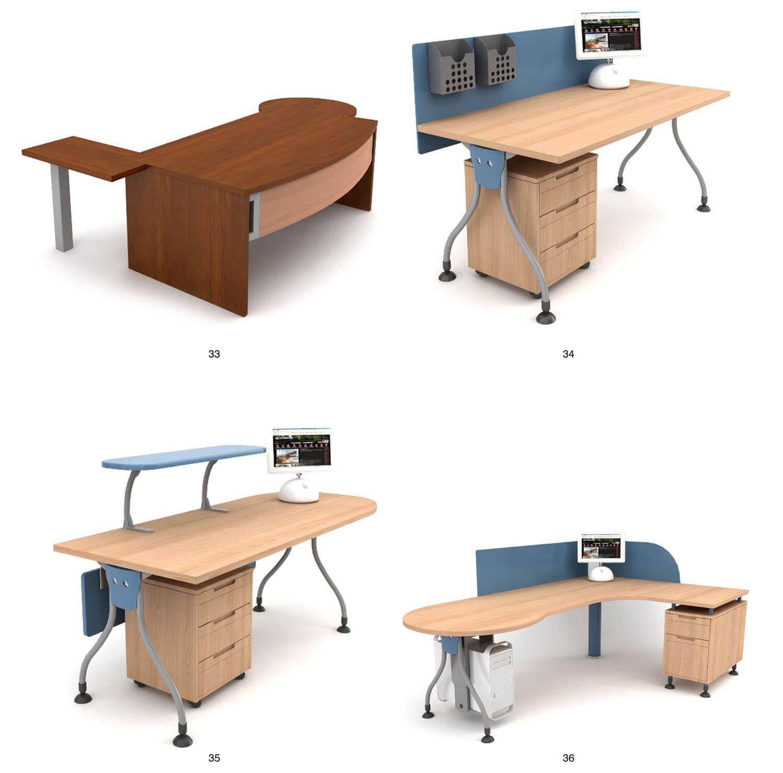 bàn làm việc cho nhân viên có vách ngăn hoặc giá kệ để đồ