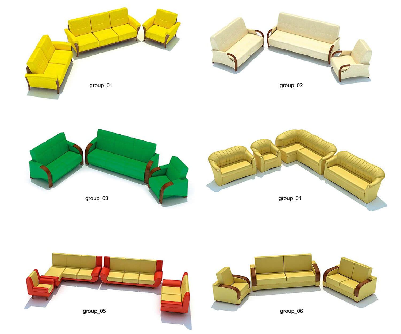 Các mẫu ghế đơn giản, có thể được ghép phù hợp với các không gian khác nhau