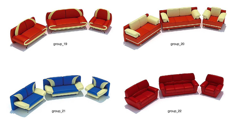 Các bộ sofa trong thư viện có màu sắc tươi trẻ cho người sử dụng