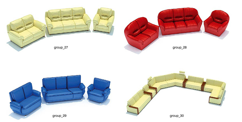 các bộ sofa cũng có thể ghép phối hợp để tạo nên các bộ sofa rộng hơn