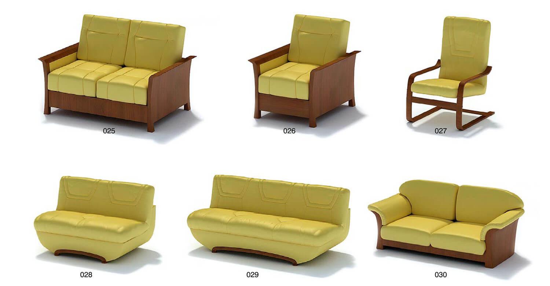 ghế sofa bọc da đơn giản