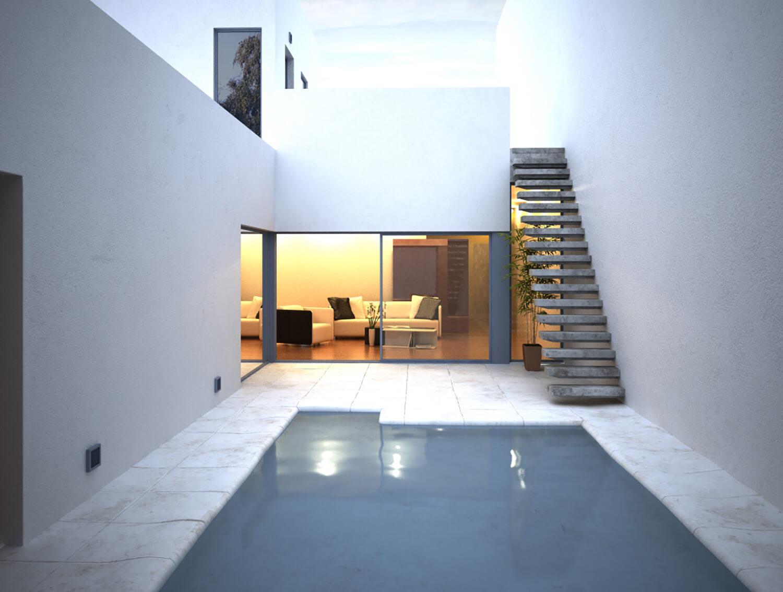 Thiết kế bể bơi khép kín cho Villa tạo sự riêng tư