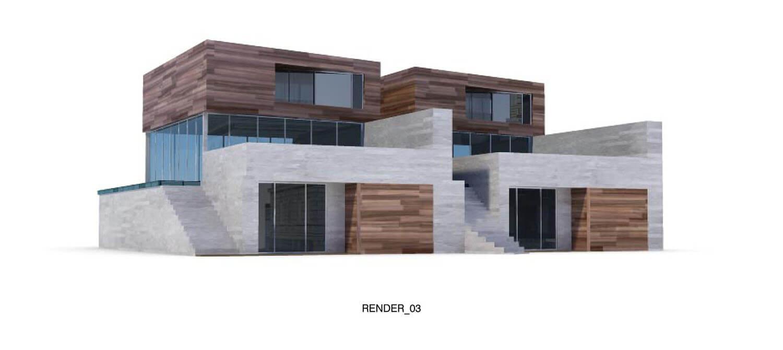 Thiết kế biệt thự đẹp với các mảng gỗ và đá xen kẽ