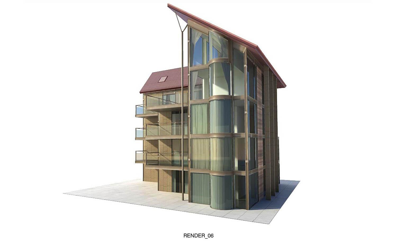 Ngôi nhà kiểu dáng độc đáo dành cho nhiều gia đình cùng chung sống