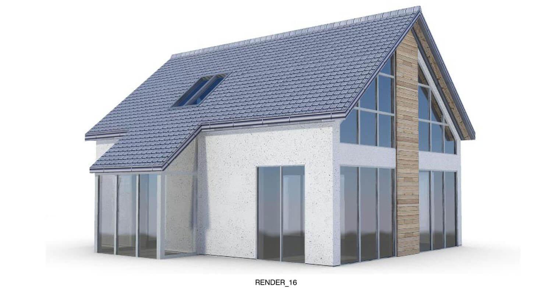 Biệt thự với mái ngói kết hợp hiện đại như mái kính, mảng tường kính